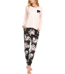 flora by flora nikrooz lauren velour lounge pajama set