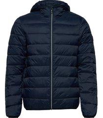 lightweight hooded puffer jacket fodrad jacka blå original penguin