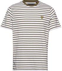 breton stripe t-shirt t-shirts short-sleeved creme lyle & scott