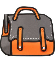 morral grande 2 tiras hondori st gris-naranja fight for your right