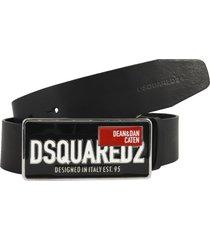 dsquared2 plaque belt belt