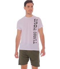 camiseta at home blanca - hombre