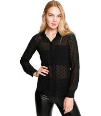 blusa lee transparente negro eclipse