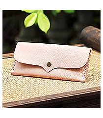 leather wallet, 'simple traveler in blush' (thailand)