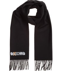 moschino double question mark shawl