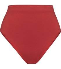 bondi born tatiana high waist bikini bottoms - red