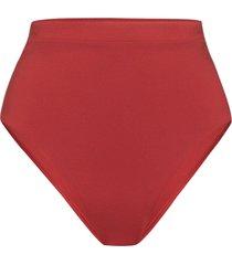 bondi born tatiana high waist bikini bottoms - red