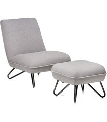 stylowy fotel cuba z podnóżkiem