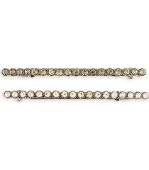 2-piece crystal hair clip set