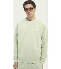 scotch & soda logo graphic organic cotton sweatshirt