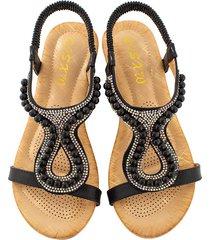 nueva sandalias de wedeg planas mujeres boca de sandalias mujer