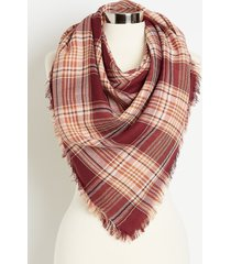 maurices womens textured tonal plaid oblong scarf