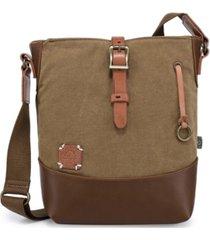 tsd brand women's redwood canvas crossbody bag