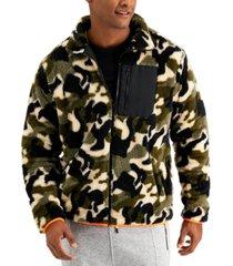 sovereign code men's camouflage fleece jacket
