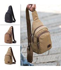 canvas casual multi-function travel chest borsa crossbody borsa