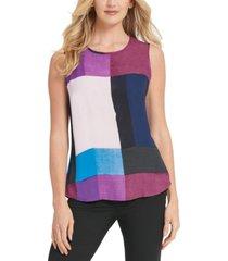 dkny colorblocked sleeveless top