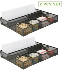 mind reader 2 piece deep storage drawer organizer
