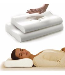 """almohada con funda de puntos memory foam"""" indeformable"""