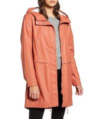 women's vero moda everyday hooded jacket, size medium - red