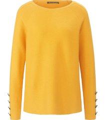 trui met ronde hals en lange raglanmouwen van betty barclay geel