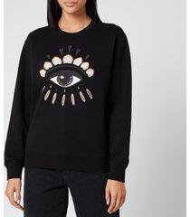 kenzo women's icon classic sweatshirt eye - black - l