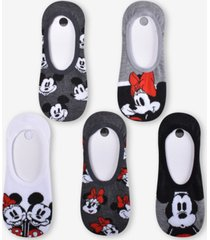 planet sox 5-pk. mickey & minnie mouse soul mates liner socks