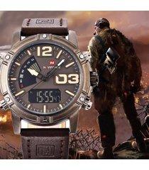 reloj militar naviforce para hombre-café