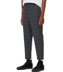men's allsaints agar plaid trousers
