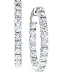 "diamond small in & out hoop earrings (5 ct. t.w.) in 14k white gold, 1"""