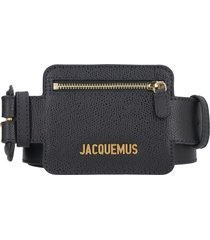 jacquemus leather belt with zippered pouch