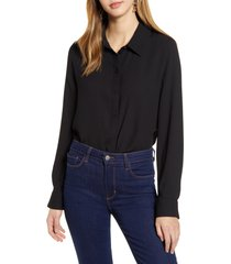 women's halogen long sleeve woven shirt