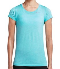 t-shirt korte mouw nike dri-fit knit ss shirt women