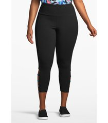 lane bryant women's active capri legging - ladder hem 22/24 black