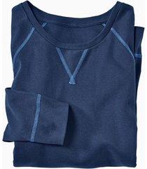shirt met lange mouwen uit bio-katoen, indigo xxl