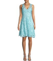 butterfly lace fit-&-flare dress