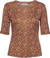 rodebjer harmony swirl blouses short-sleeved bruin rodebjer
