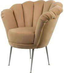 fotel cappuccino beż tapicerowany lux-3