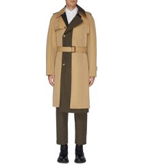 asymmetric tailored trench coat