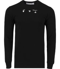 marker logo long-sleeve t-shirt, black