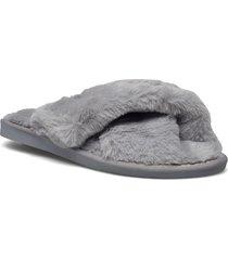 slippers slippers tofflor grå rosemunde