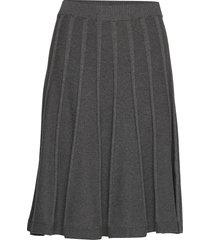 henna skirt knälång kjol grå jumperfabriken