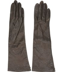 yves saint laurent pre-owned 1980's mid-length gloves - brown