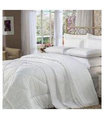 jogo de cama quenn 4 peças branco soft touch plumasul