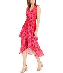 sam edelman printed v-neck midi dress