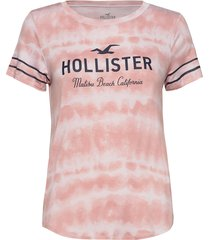 print core washes t-shirts & tops short-sleeved rosa hollister
