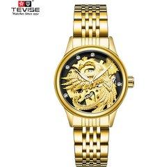reloj, relojes mecánico automático hueco hueco a-dorado