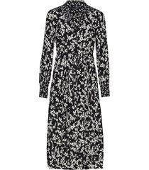 bruna light midi shirt dress jurk knielengte zwart french connection