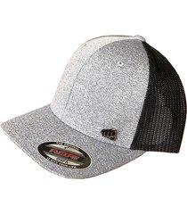 gorra fist con pin gris con malla negra atrás gfistcap38