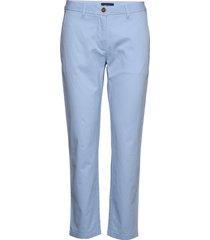 classic chino pantalon met rechte pijpen blauw gant