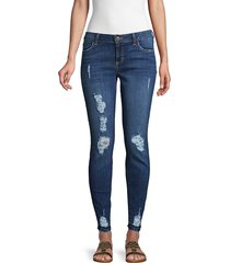 siwy women's hannah destroyed skinny jeans - dark blue - size 23 (00)